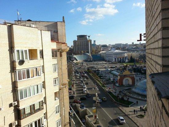 Kozatskiy Hotel: Вид из окна