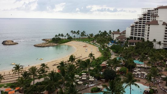 Ko Olina Lagoons: View of one of the lagoons from our room.