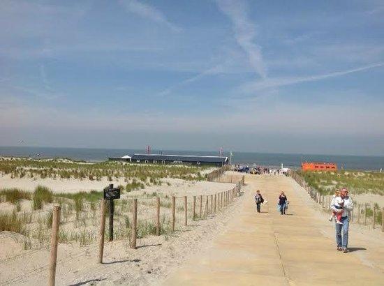 Hoek van Holland beach: Long walk from the parking lot