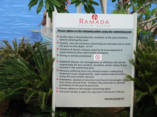 Ramada Resort Cochin: warning