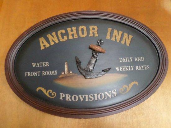 Historic Anchor Inn: Hotel plaque.