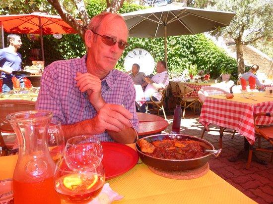 A Piazzetta: Serving the wild boar
