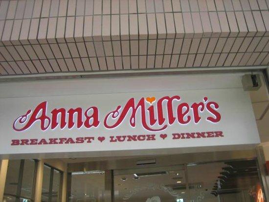 Anna Miller's Takanawa: お店のサイン