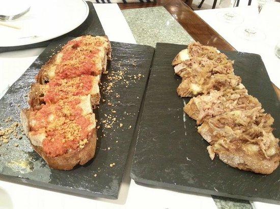 Restaurante Caney: un par de tostas espectaculares