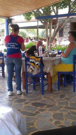 Aigaio Pelagos Restaurant: Always with a friendly smile...