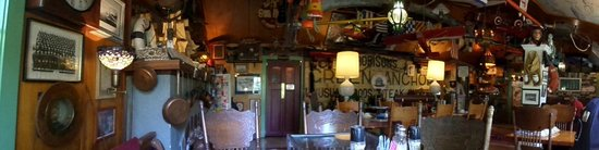 Historic Anchor Inn: Panorama of the dining room. There is also a small bar.