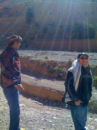 Sahara Atlas Tours -Day Tours : Ismail and Daud explore the village near the Monkey Fingers.