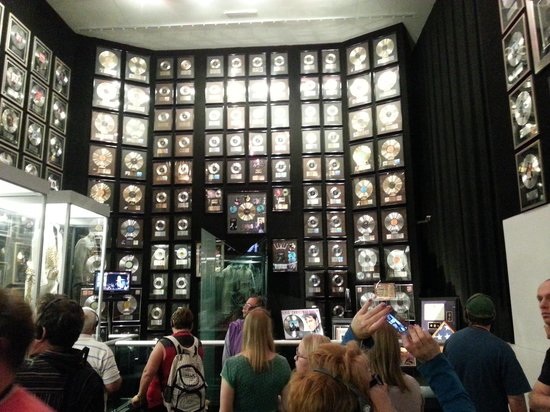 Graceland: just one of the walls of records