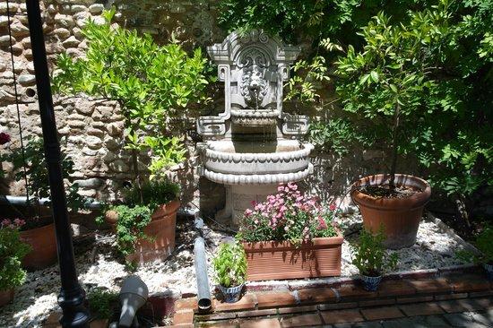 El Trillo Resturante: fontaine de la terrasse
