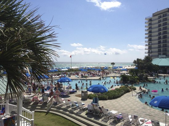 Edgewater Beach and Golf Resort: View from the Ropes Course, yes, parents can go too!
