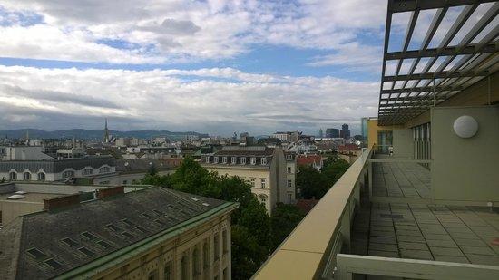 Austria Trend Hotel Savoyen Vienna: View from my balcony