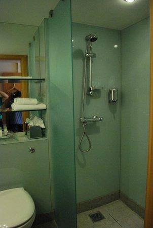 Station House Hotel Letterkenny: Douche fixe ( pas de baignoire )