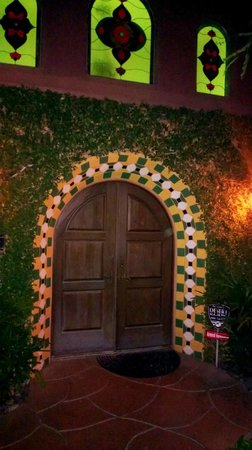 The Andalusian Court: Front Door to Reception Area