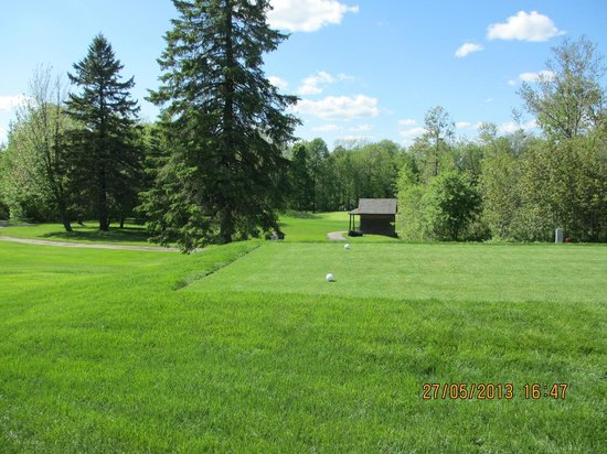 Dufferin Heights Country Club: View from 8th tee looking to 7th green, Par 3