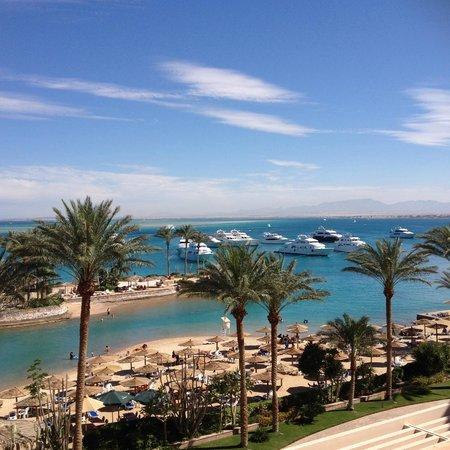 Hurghada Marriott Beach Resort : This was the view from our room (419)