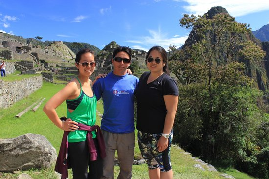 Inca Land Adventures: My cousin and I with Hector at Macchu Picchu