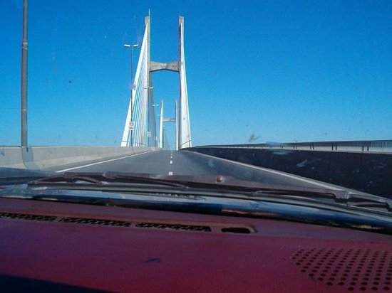Rosario-Victoria Bridge: FOTO TOMADA DESDE EL AUTO ENTRANDO AL PUENTE