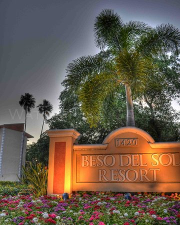 Beso Del Sol Resort: When you see our beautifully landscaped entrance you'll know you've arrived!