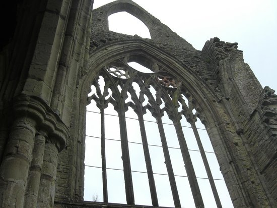 Tintern Abbey: Imagine this with stained glass ...