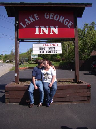 The Lake George Inn: The happy couple