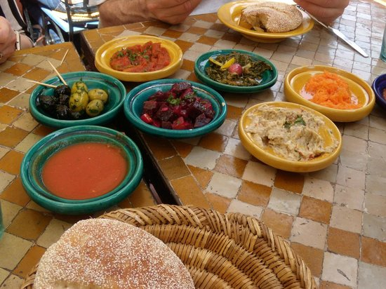 Restaurant Cafe La SQALA : Appetizer salads