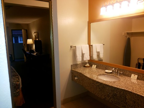 Best Western Inn: wash basin tea coffee maker