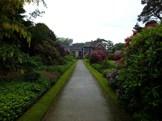 Rufford Old Hall: View of the hall from the gardens