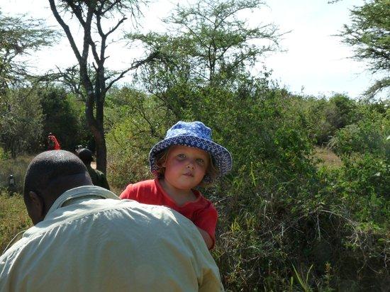 Leleshwa Camp : David and his small charge