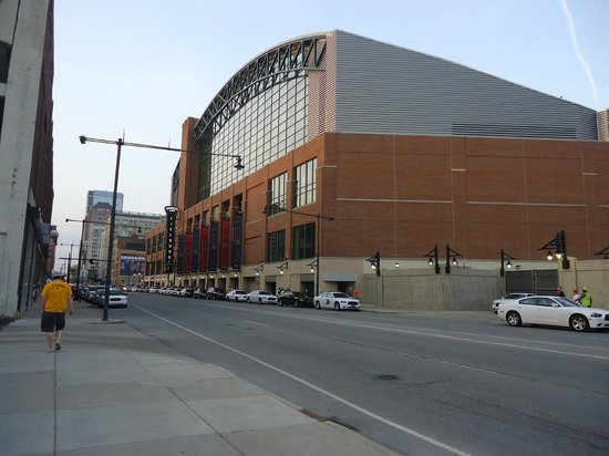 Bankers Life Fieldhouse: from the outside