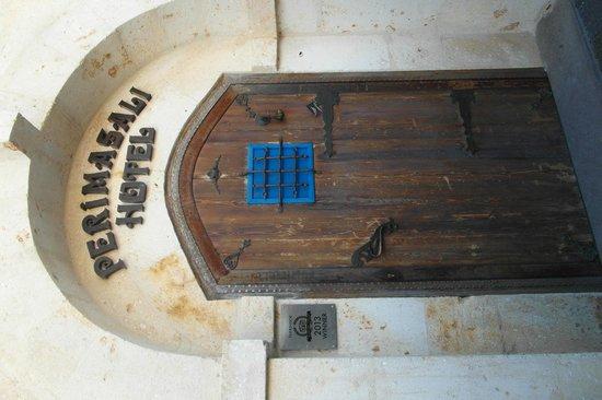 Perimasali Cave Hotel - Cappadocia: Perimasali Entrance Door .