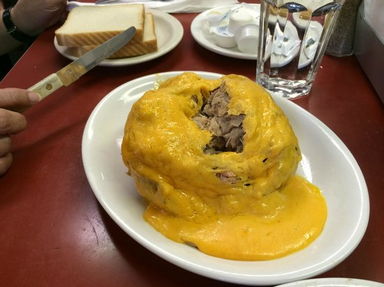 Sprayberry's Barbecue: Sprayberry's pulled pork-stuffed baked potato with cheese