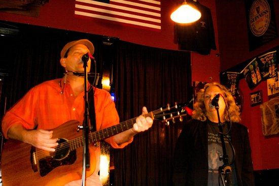 Freeman's Pub : Tim and I performing one of his songs at Freeman's OSN
