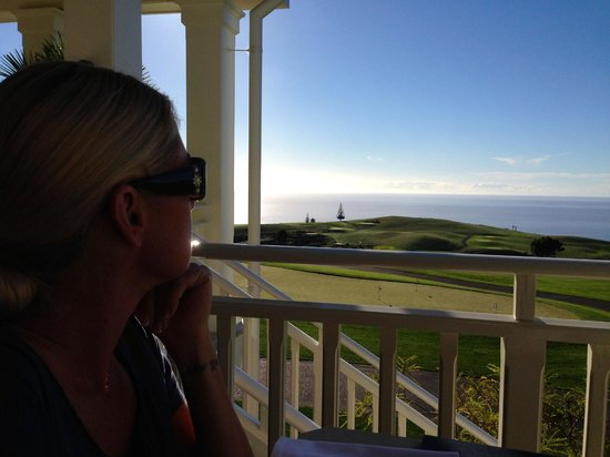 The Lodge at Kauri Cliffs: The view from breakfast at the Lodge.