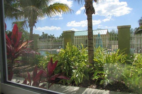 Residence Inn Fort Myers Sanibel: View of pool from 1st floor room