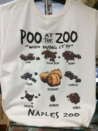 Naples Zoo at Caribbean Gardens : Funny shirt at zoo gift shop