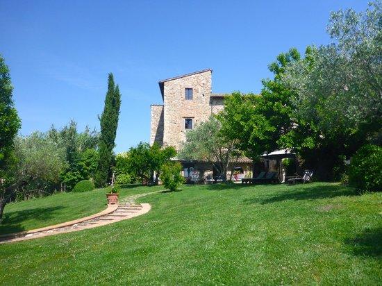Tenuta di Canonica : View of rear of hotel taken from pool area