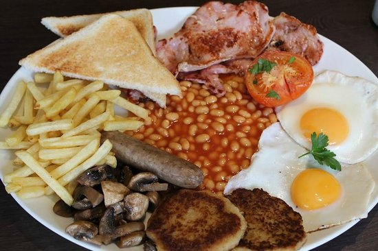 Bite Cafe: Mega Bite Breakfast with homemade Hash Browns