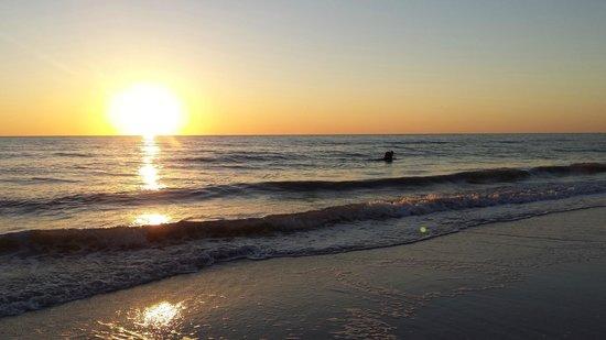 Vanderbilt Beach Resort: Sunset on day one.  Just a mellow walk on the beach.