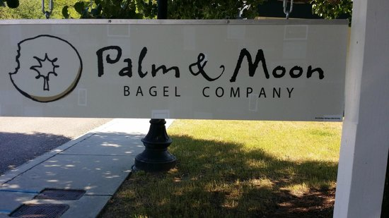 Palm and Moon Bagel
