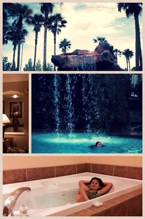The Grandview at Las Vegas: photo collage of room and pool area