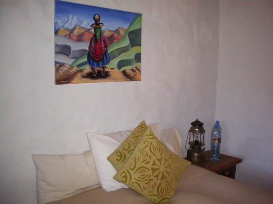 Antigua Tilcara B&B: La habitación con una simple decoración, pero hermosa.