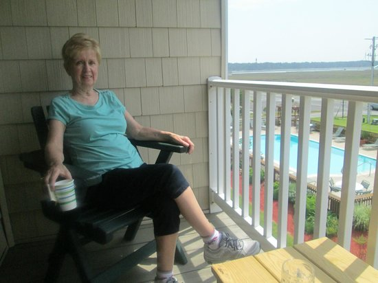 BEST WESTERN PLUS Chincoteague Island: Our balcony