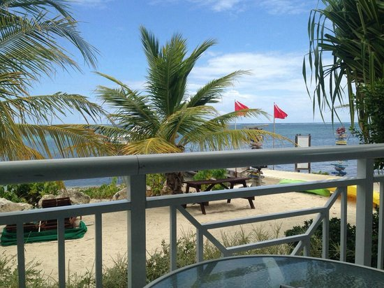 Compass Point Dive Resort : View from patio of room 103