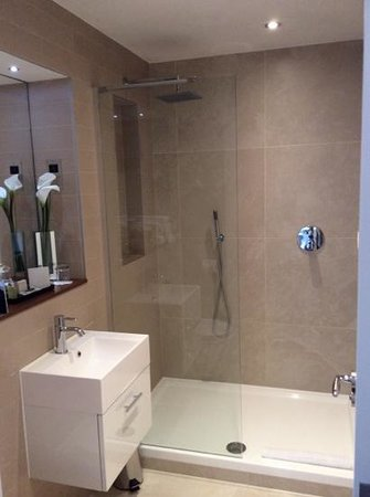Fraser Place Canary Wharf: lovely waterfall shower