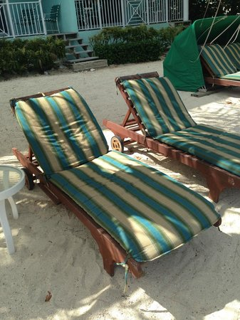 Compass Point Dive Resort : Our own private beach chairs