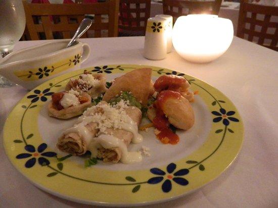 Grand Park Royal Cozumel : Entradas del restaurant mexicano