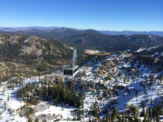 Squaw Valley Ski Area: The tram on its way up