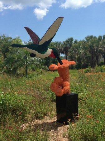 Naples Botanical Garden: Lego Hummingbird