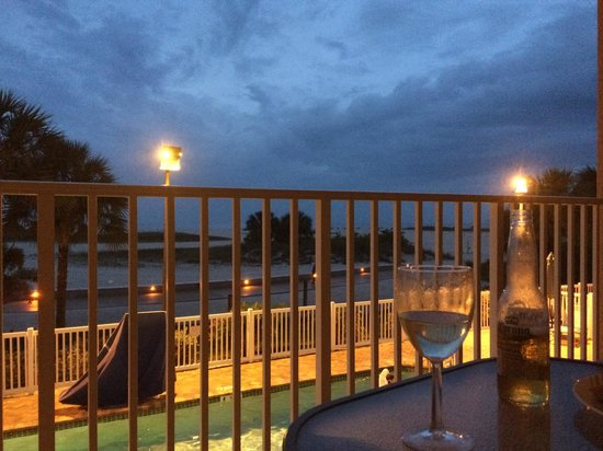 Surf Beach Resort: View from balcony at night
