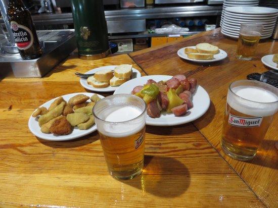 El Respiro: birra e stuzzichini